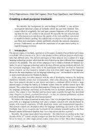 JLCL 2011 – Band 26 (2) – 141-152 Creating a dual-purpose treebank