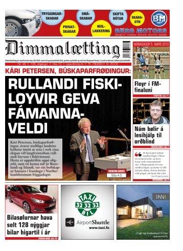 RULLANDI FISKI- LOYVIR GEVA FÁMANNA- VELDI