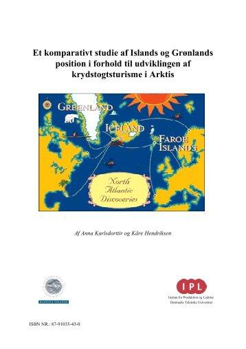 Et komparativt studie af Islands og Grønlands ... - Háskóli Íslands
