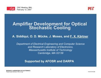 Optical Amplifier, A. Siddiqi, MIT