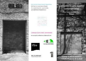 Boletín informativo Jornadas (PDF) - Fundación Helga de Alvear