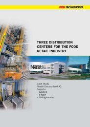 three distribution centers for the food retail industry - SSI SCHÄFER