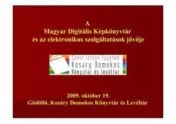 Bánkeszi Katalin: Az elektronikus könyvtári szolgáltatások jövője