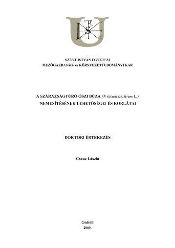 Microsoft Word - cseuzldolgv\\351gleges 5.doc - Szent István Egyetem