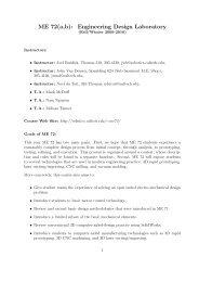 ME 72(a,b): Engineering Design Laboratory - Caltech Robotics
