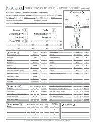 GODLIKE Character Sheet - Arc Dream Publishing