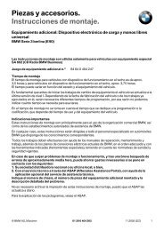 Piezas y accesorios. Instrucciones de montaje. - BMW Carx Spain