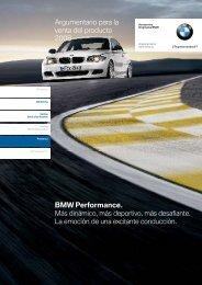 BMW Performance. Argumentario para la venta ... - BMW Carx Spain