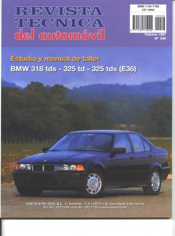 Manual de taller E36 Diesel - BMW Carx Spain