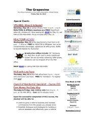 Grapevine for May 10, 2013 - Fresno Association of REALTORS