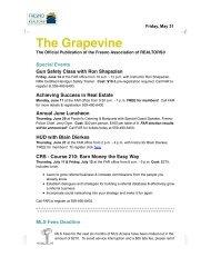 Grapevine for May 31, 2013 - Fresno Association of REALTORS