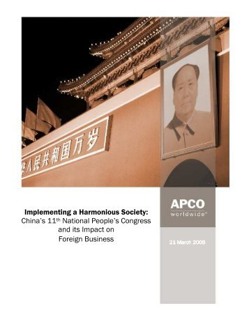 China's 11 National - APCO Worldwide