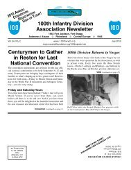 100th Infantry Division Association Newsletter Centurymen to Gather ...