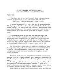 an improbable machine gunner - The George C. Marshall Foundation