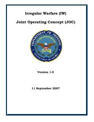 Joint Operating Concept (JOC) - GlobalSecurity.org