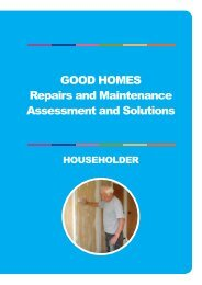 Good Homes Repairs and maintenance Assessment and solutions