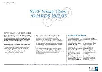 STEP media pack  PCA 2012-13