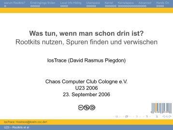 Rootkits nutzen, Spuren finden und verwischen - David R. Piegdon