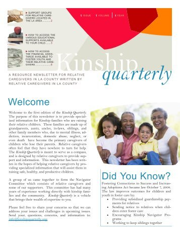 quarterly - Los Angeles County Department of Children and Family ...