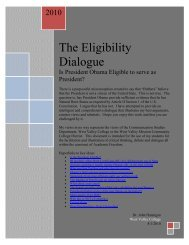 The Eligibility Dialogue - West Valley College