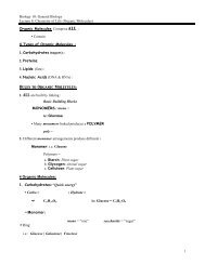 Biology 10: General Biology Lecture 8: Chemistry of Life (Organic ...