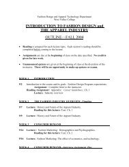 Syllabus For B Sc Fashion Designing V Semester Sr
