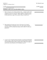 MATH 10 Mr. Michael Leitner Chapters 8-11 Practice Test C NAME ...