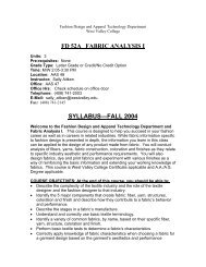52A Syllabus - West Valley College