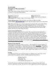 ECON 001B Principles of Microeconomics - West Valley College