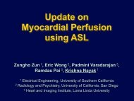 Myocardial ASL - MREL - University of Southern California