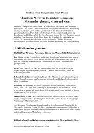 Überlegungen für ein pädagogisches Profil der FES - FES Dresden