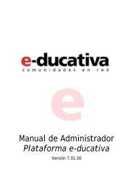 Manual de Administrador Plataforma e-ducativa - Plan Ceibal