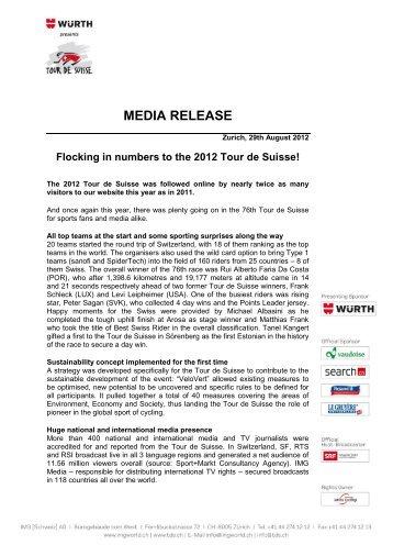 Flocking in numbers to the 2012 Tour de Suisse! - IMG (Schweiz)