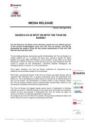 search.ch is spot on with the Tour de Suisse! - IMG (Schweiz)