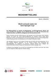 Würth schraubt weiter mit beim Spengler Cup! - IMG (Schweiz)