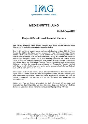 Radprofi David Loosli beendet Karriere - IMG