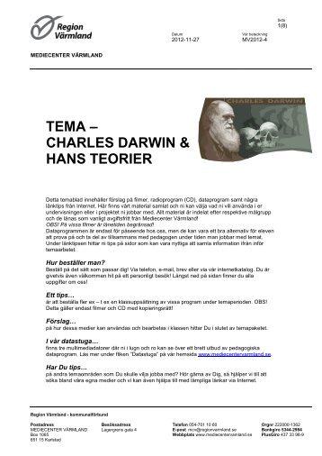 TEMA ? CHARLES DARWIN & HANS TEORIER - Mediecenter ...