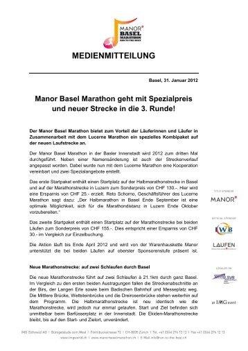 Manor Basel Marathon geht mit Spezialpreis und ... - IMG (Schweiz)