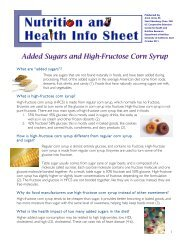 Added Sugars and High Fructose Corn Syrup - UC Davis Nutrition ...