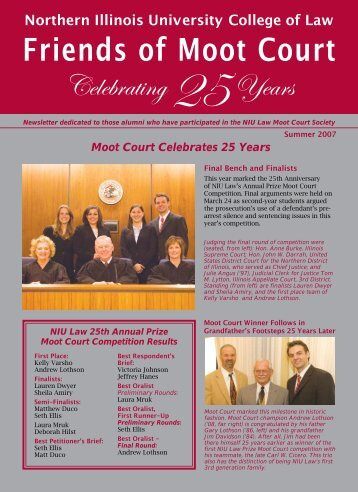 Friends of Moot Court - College of Law - Northern Illinois University