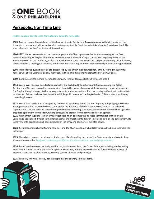 Persepolis Iran Time Line Free Library Of Philadelphia
