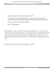 VUV photon induced fluorescence study of SF5CF3 - University of ...
