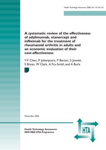 A systematic review of the effectiveness of adalimumab