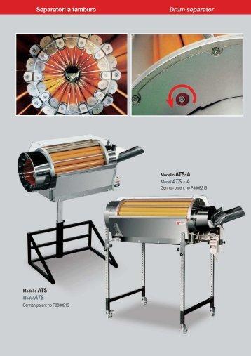 Separatori a tamburo Drum separator Model ATS - A - muehsam