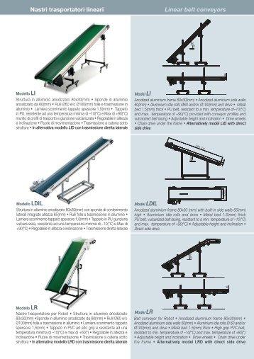 Nastri trasportatori lineari Linear belt conveyors - Muehsam