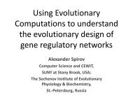 Using evolutionary computations to understand the design and ...