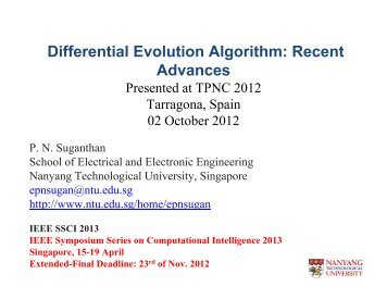 Differential Evolution Algorithm: Recent Differential Evolution ...