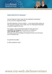 Kurreise nach Bad Wildungen - MZ-LeserReisen