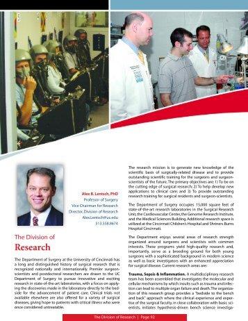 Research - Surgery - University of Cincinnati