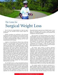 Center for Surgical Weight Loss - Surgery - University of Cincinnati